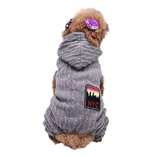 JKRTR Haustierkleidung 2019,Mode vierbeinige halten warme Kleidung Herbst und Winter Haustier Bekleidung(Grün,S)