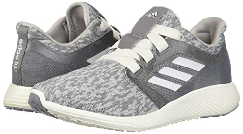 adidas Women's Edge Lux 3 Running Shoe, grey/cloud white/silver metallic, 8.5 M US 6
