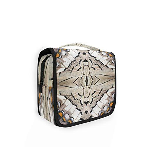 Hunihuni - Bolsa de aseo colgante con diseño de alas de mariposa, multifunción, para viajes,...