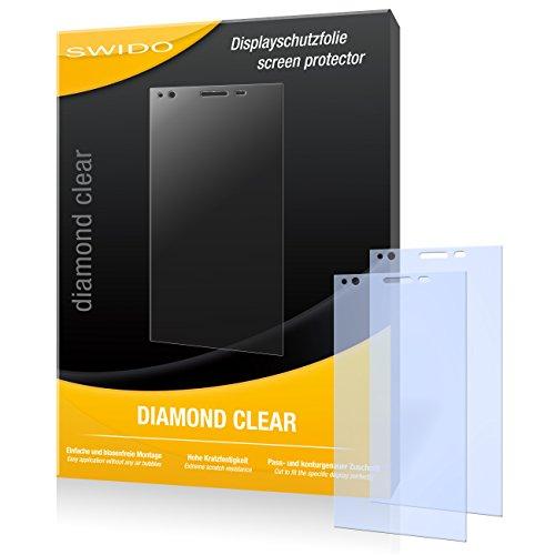 SWIDO 2 x Bildschirmschutzfolie ZTE Blade Vec 4G Schutzfolie Folie DiamondClear unsichtbar