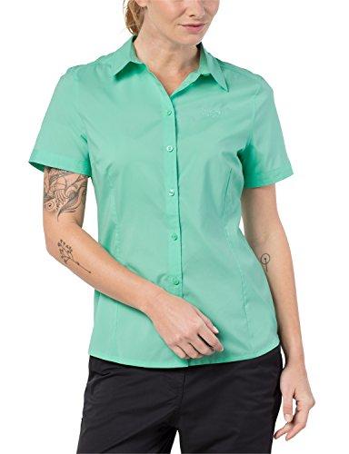 Jack Wolfskin Damen Sonora Shirt UV-Schutz Schnelltrocknend Freizeit Reise Bluse, Pale Mint, S