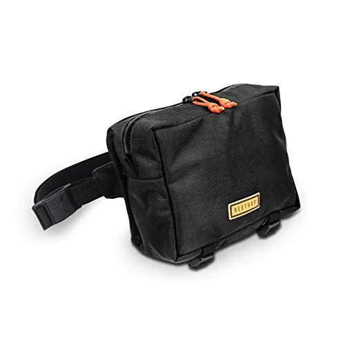 RESTRAP - Bolsa de cinturón para Adulto, Unisex, Color Negro, Talla única