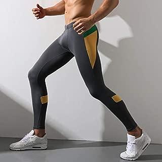 BEESCLOVER New Men's Long Polyester Underwear Winter Warm Undershirts Patchwork Sports Running Leggings