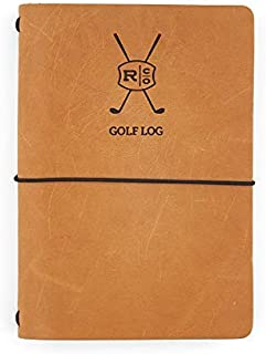 Rustico Leather Golf Log Book Handmade in The USA Easily Refillable