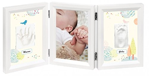 Baby Art My Baby Touch Dreamy Cadre Photo 3 Volets Blanc
