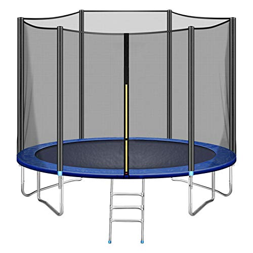 12FT Trampoline Safety Enclosure Net Combo Bounce Jump for Kids Outdoor with Spring Pad Waterproof Jump Mat & Ladder