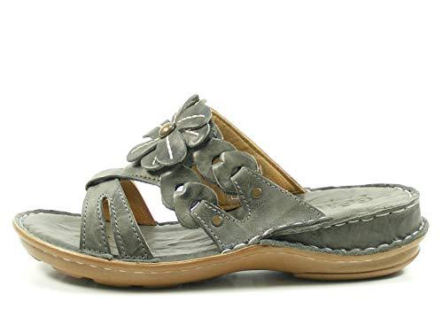 Gemini 003314-01 Schuhe Damen Sandalen Pantoletten Clogs, Schuhgröße:40, Farbe:Braun