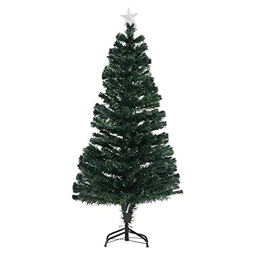 5' Artificial Holiday Fiber Optic / LED Light Up Christmas Tree w/...