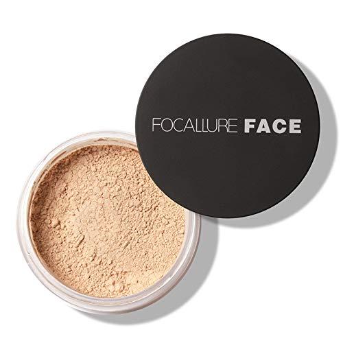 Focallure Face Powder Loose Powder Face Makeup Powder Waterproof Skin Finish Powder (#2 (Natural))