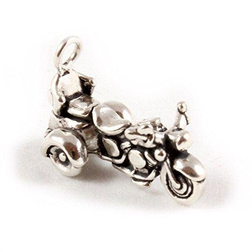 Broche de plata de ley para pulsera triciclo Motor Goldwing offre une accessibilité et