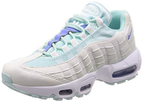 Nike Women's WMNS Air Max 95 Track & Field Shoes, Multicolour (Teal Tint/Royal Pulse Summit White 306), 4 UK