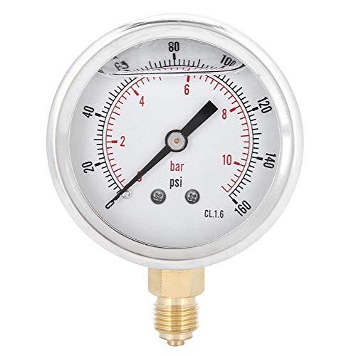 WMY Accesorios de Herramientas de manómetro de medidor de presión Radial de Acero Inoxidable 1 / 4bsp Y60 para fábrica para hogar