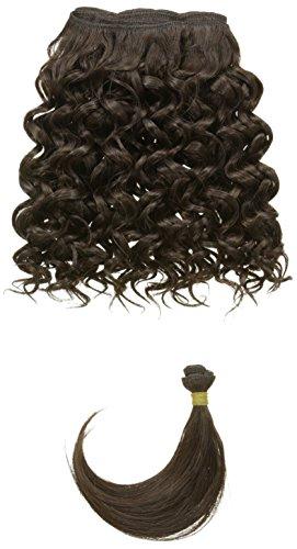 chear Disco Jerry trame Extension de cheveux humains avec de mélange tissage, numéro 2, marron foncé, 25 cm