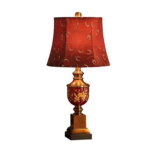 CJH Lampe de Table de Mariage Chambre Lampe de Chevet American Retro Salon Chambre de Mariage Creative Chaude Lampe de Table Rouge