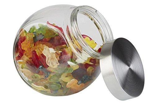APS pot en verre avec couvercle 12,5 x 19 cm, H: 18 cm Glas, acier inoxydable