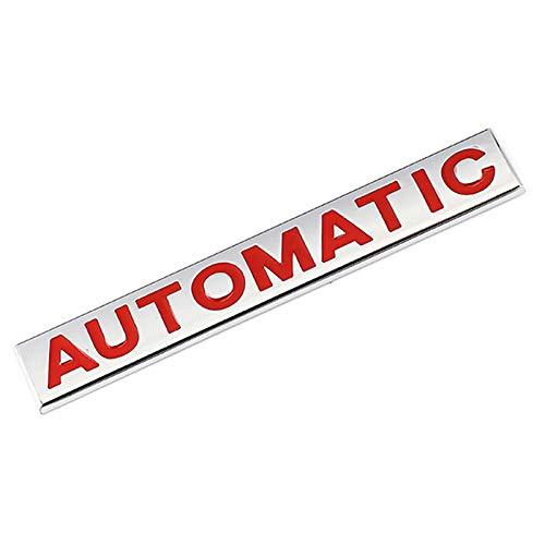Emblema de repuesto Logotipo Creative 3D Metal Car Sticker Chrome Emblem Insignia Calcomanía Compatible con BMW Audi Honda Opel Lada Toyota Chevrolet Hyundai Auto Engomada del Emblema ( Color : Red )