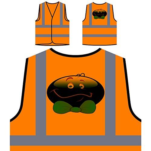 Smile With Ribbon Face Novedad Funny Vintage Art Chaqueta de seguridad naranja personalizado de alta visibilidad a291vo