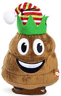 Winter Wonder Lane Poop Emoji Farting Shaking Laughing Large Poo Face Plush Emoticon Brown Stuffed Poopy Novelty Decoration Head Doll Friends Toy, Valentine.Birthday..Animated