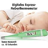 Digitales Express-Fieber-Thermometer fürs Baby, misst in 10 Sekunden, flexible Spitze
