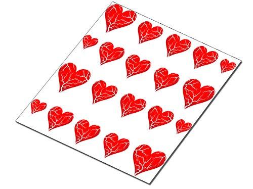 AWS set Water decals Cuori Cuore crepato spezzato stickers rosso unghie nail art Adesivi S.Valentino amore transfer decorazione Broken Heart red ricostruzione...
