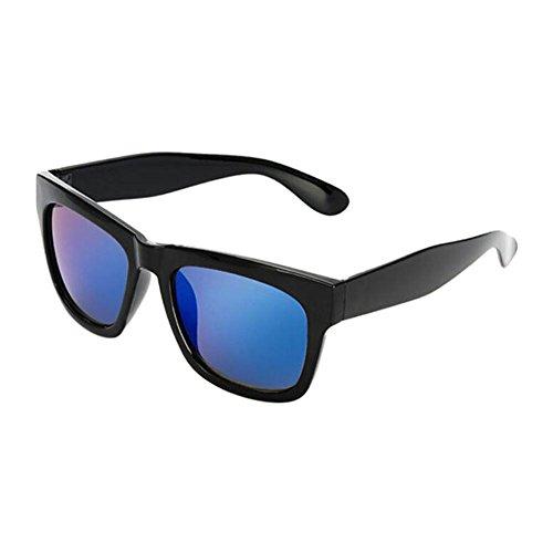 Hzjundasi Groß Schwarz Rahmen Blau Linsen Anti-UV Kurzsichtigkeit Sonnenbrille Goggles Kurzsichtig Fahren Eyewear Stärke -1.00~-4.00 (Diese sind nicht Lesen Brille)