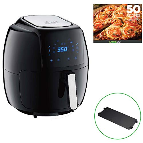 GoWISE USA 8-in-1 Digital Air Fryer with Recipe Book, 7.0-Qt, Black