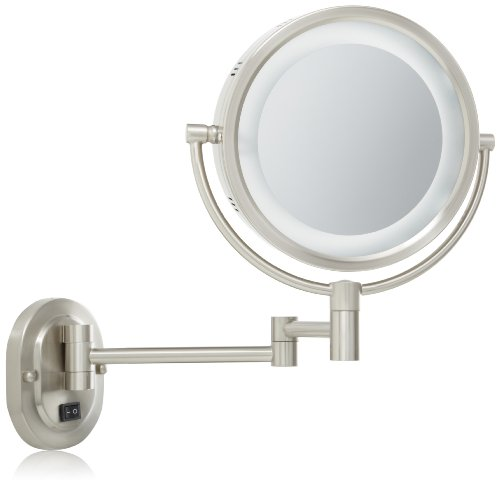 Jerdon HL65ND 8-Inch Lighted Direct Wire Wall Mount Mirror with 5x  Magnification, Nickel Finish (B00413BIMG) | Amazon price tracker /  tracking, Amazon price history charts, Amazon price watches, Amazon price  drop alerts |CamelCamelCamel