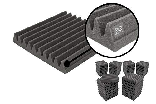 48 Pack, 2' Thick EQ Acoustics Premium Acoustic Foam Tile Kit, 30 x 30 x 5cm Classic Wedge Tiles....