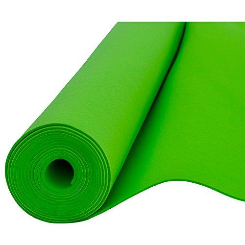 Filz, Filzstoff, Dekorationsfilz, imprägniert, Breite 100 cm, Dicke 4 mm, Meterware 0,5 lfm - grün