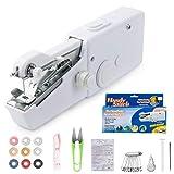 MANGZ Handheld Sewing Machine,Mini Cordless Portable Hand Sewing Machine Home Handy Stitch Quick