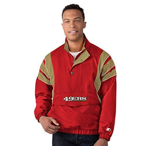 San Francisco 49ers Starter IMPACT Half-Zip Pullover Jacket - Scarlet (XL)