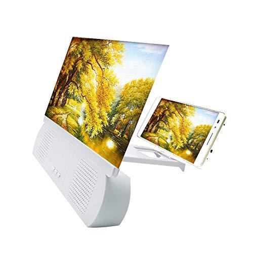 YZT QUEEN Screen vergroter, 10 inch 5D HD Blu-ray mobiele telefoon scherm projector met Bluetooth luidspreker, 3-4x vergroting, HD draagbare film versterker voor alle IOS en Android smartphones