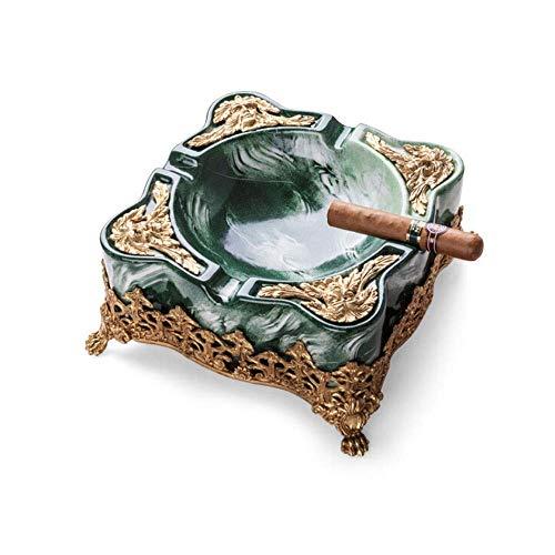CHOUCHOU Cendrier pour cigares - Cendrier cigares, Mode en marbre Grandes Ornements décoratifs, Smoker Cigare Cendrier, Vert, for la Maison, Le Bureau, Bienvenue à Acheter