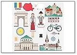 Traditioneller Kühlschrankmagnet, Motiv: rumänische Symbole & Zeichnungen, Illustration