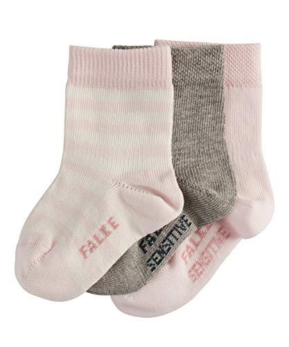 FALKE Baby Socken 3er Set Baby - 94% Baumwolle, 3 Paar, Rosa (Light Grey/Pink 10), Größe: 74-80