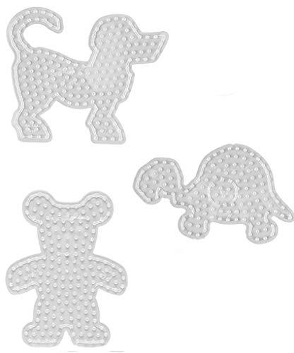 Hama Maxi Perlen - Beutel mit Stiftplatte 8202 Hund , 8204 Teddy und 8210 Schildkröte