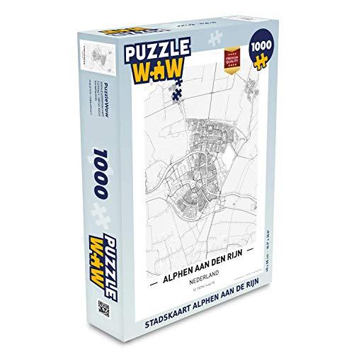 Puzzel 1000 stukjes volwassenen Top 50 Nederland staande1000 stukjes - Stadskaart Alphen aan de Rijn - PuzzleWow heeft +100000 puzzels - legpuzzel voor volwassenen - Jigsaw puzzel 68x48 cm
