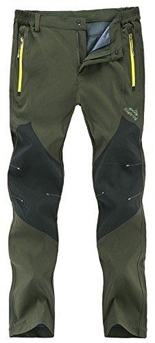 Singbring Men's Outdoor Lightweight Waterproof Hiking Mountain Pants (men-Small, Olive)