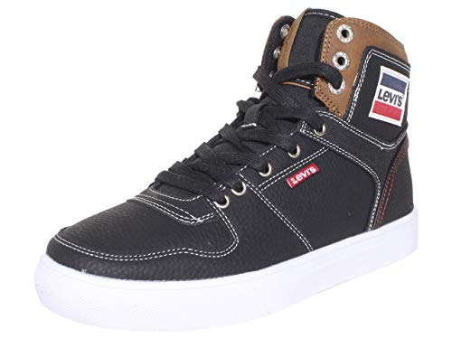 Levi's Mens Mason Hi Olympic Fashion Hightop Sneaker Shoe, Black/Tan, 9.5 M