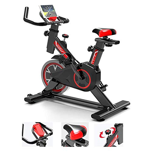 CHA Indoor Cycling bicicleta de ejercicios, bicicleta de montaña de altura ajustable, bicicleta profesional plegable de fitness con cómodo cojín de asiento, ventosa antideslizante