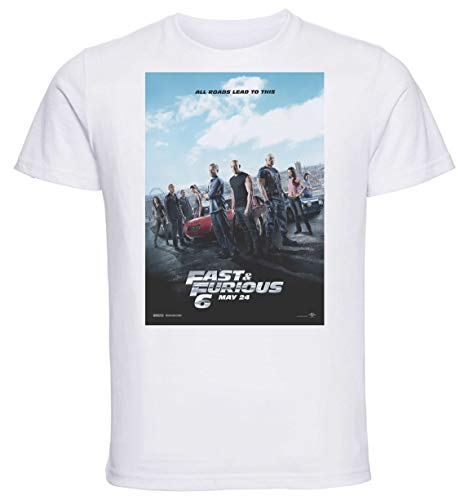 Instabuy T-Shirt Unisex - White Shirt - Playbill Film - Fast Furious 6 Size Small