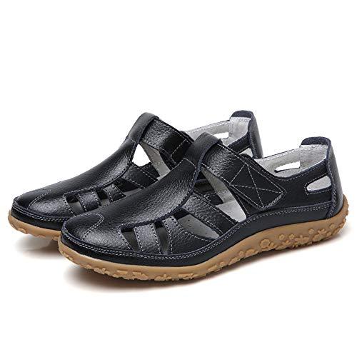 Damessandalen met gesloten neus Platte vrijetijdsschoenen Loafers Boot sandalen Dames zomerschoenen
