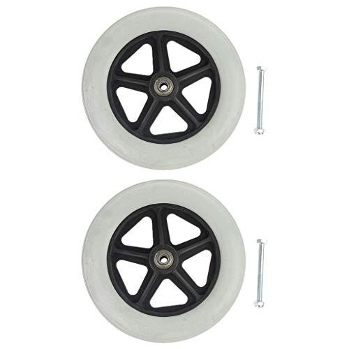 Paquete de 2 ruedas universales de 19 cm/8 pulgadas, piezas de repuesto para sillas de ruedas, scooters, rodamientos AOD de 5/16 pulgadas ⭐