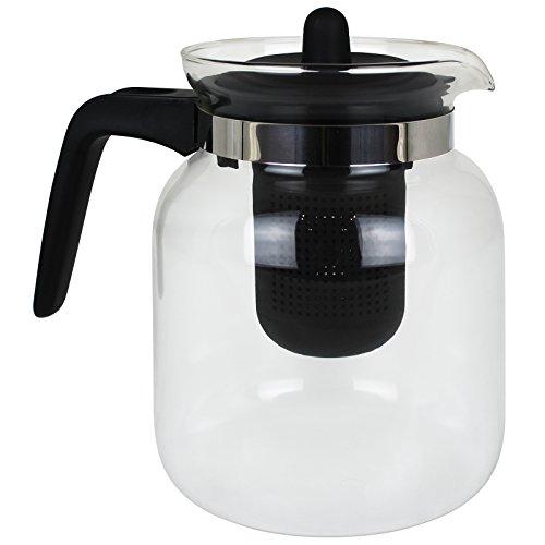 TW24 Teekanne Glas mit Sieb 1,5 Liter Kaffeekanne Glaskanne Teebereiter Kaffeebereiter Glasteekanne Tee Kanne