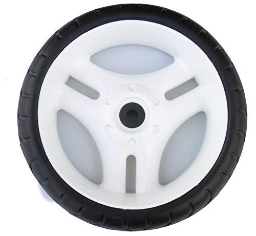 Kettcar Rad weiß original 13 mm Narbe Ersatz Räder Felge Reifen für Kettler Tretauto