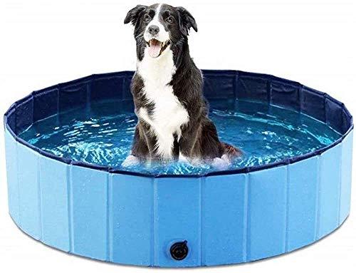 Portátil piscina infantil for los animales domésticos, perro robusto piscina plegable de baño de hidromasaje antideslizante durable Perros Palmetazos bañar Piscina Bañera en jardín Patio Cuarto de bañ