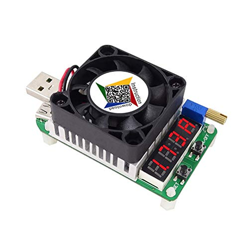 ICQUANZX Trigger QC2.0 QC3.0 Elektronische USB-belastingsweerstand Ontlading batterijtest instelbare stroomspanning 35w (Smart load), Hydraulische ventilator