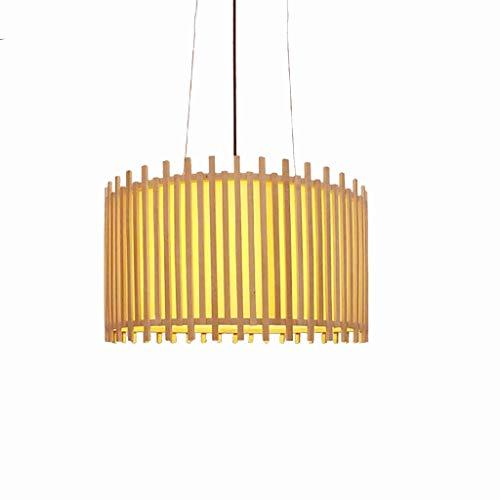 JYDQM Cadena de bambú decoración del Restaurante de Droplight Pendiente de la luz de la lámpara de Mimbre Antigua Loft Rota la lámpara Fixture Ajustable
