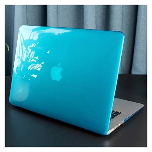 XXY For New MacBook Pro Air 11 12 13 15 16 Inch A2289 A2179 A2337 Matte Clear Laptop Case Keyboard Cover+Screen Film (Color : Crystal Sky Blue, Size : 11 inch)