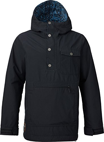 Burton Mens Sawyer Anorak, True Black, Medium